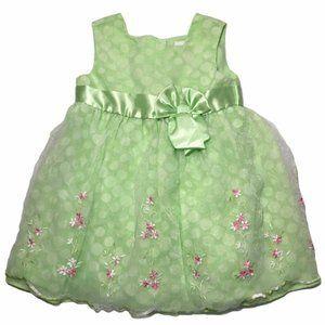 Easter Spring  Summer Dress 24 Months Green Polka